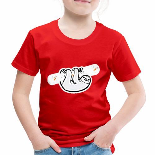 Snowboard Faultier - Kinder Premium T-Shirt