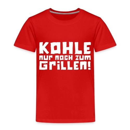 Kohle nur noch zum Grillen - Logo - Kinder Premium T-Shirt