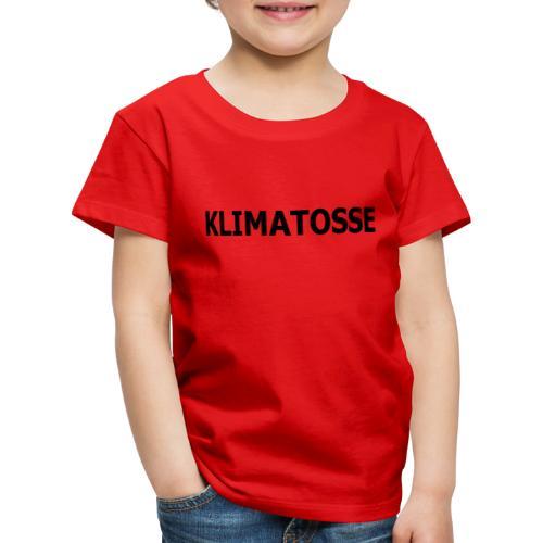 KLIMATOSSE SORT - Børne premium T-shirt
