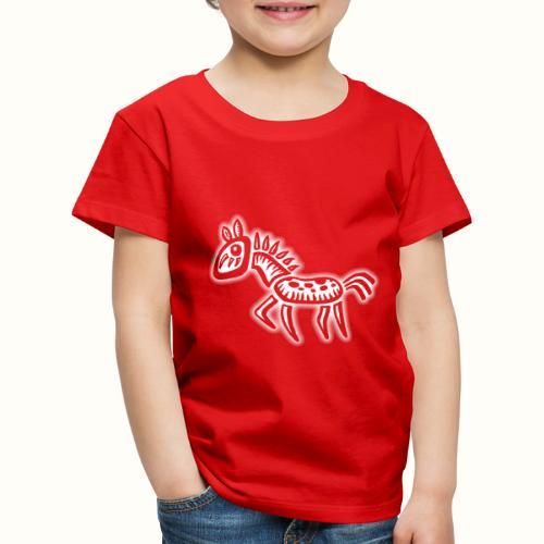 Poppy Pony wit VLA43 T-shirts - Kinderen Premium T-shirt