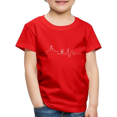 SCOUT.beat – Herzschlag Zelt & Mensch – Weiß - Kinder Premium T-Shirt