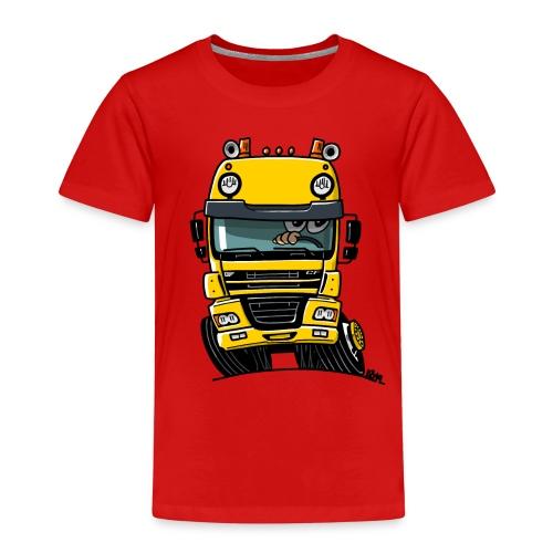 0810 D truck CF geel - Kinderen Premium T-shirt