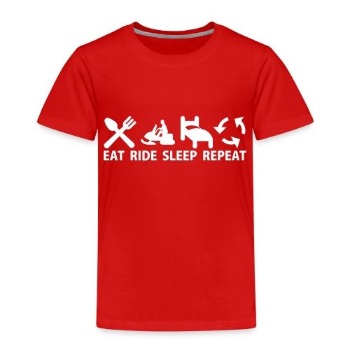 Snöskoter (Sled) - Premium-T-shirt barn