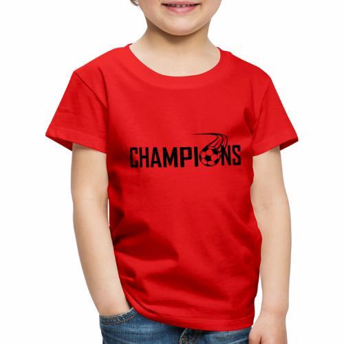 Champions Fussball Logo - Kinder Premium T-Shirt