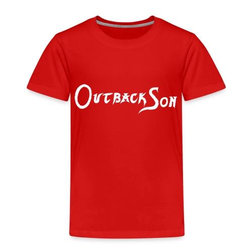 outbackson schriftzug weiß - Kinder Premium T-Shirt
