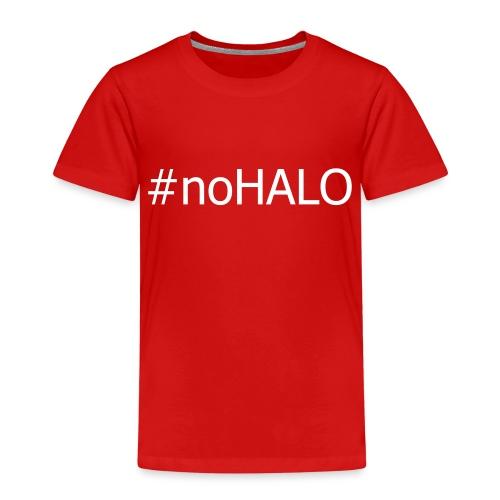 #noHALO white - Kids' Premium T-Shirt