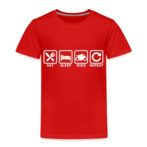 eat sleep ride repeat 2 - Kinder Premium T-Shirt