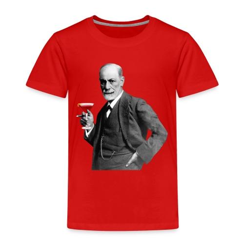 Sigmund Freud mit Cocktail - Kinder Premium T-Shirt
