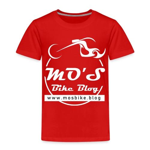Mos Bike Blog Logo, weiß - Kinder Premium T-Shirt