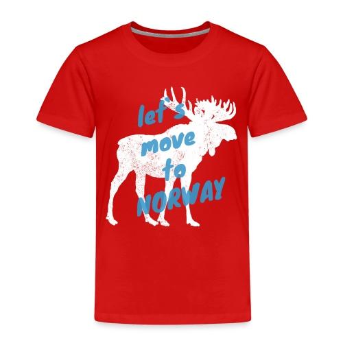 Norwegen Elch Auswandern Umzug Geschenk - Kinder Premium T-Shirt