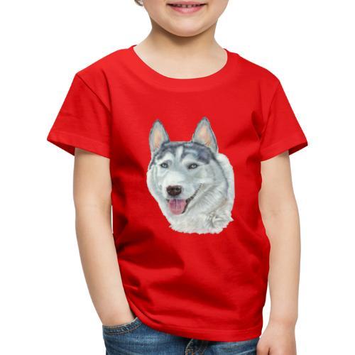 siberian husky_blueeyes - Børne premium T-shirt