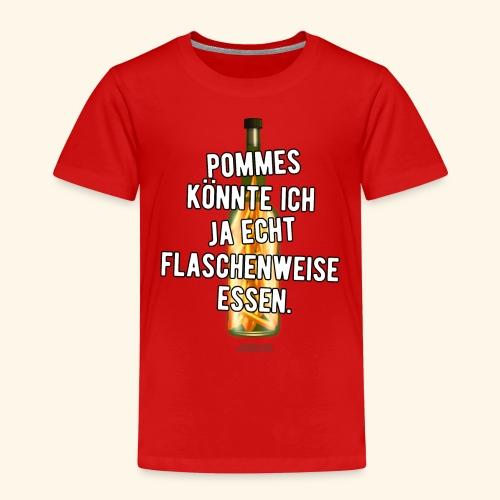 Lustiges Sprüche T-Shirt Flasche Pommes Frites - Kinder Premium T-Shirt