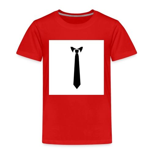 Cravate noir sur fond blanc - T-shirt Premium Enfant