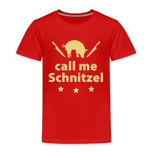 call me Schnitzel Schwein Fleisch Steak Grill Sau - Kids' Premium T-Shirt