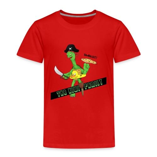 The kiwi family logo - Premium T-skjorte for barn