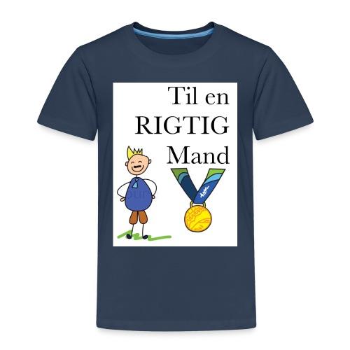 En rigtig mand - Børne premium T-shirt