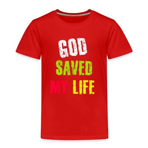 Gott hat mein Leben gerettet - Kinder Premium T-Shirt