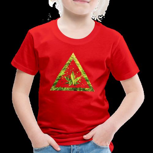 Marijuana Cannabisblatt Triangle with Splashes - Kinder Premium T-Shirt