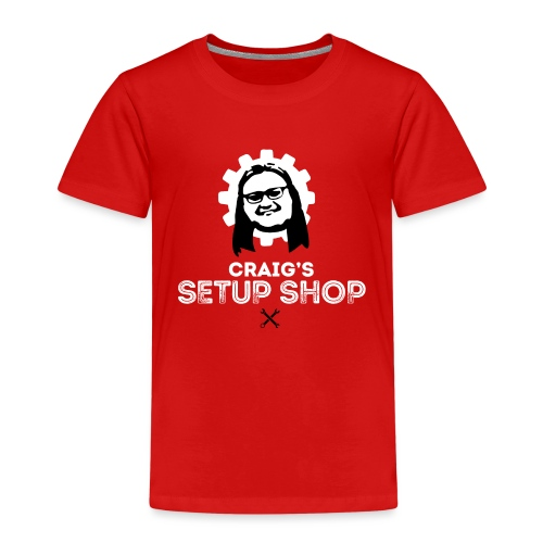 Craigs Setup Shop on Red - Kids' Premium T-Shirt