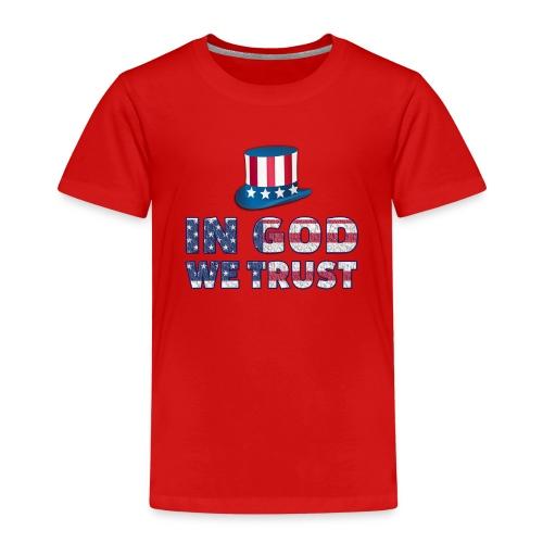 America-Slogan-In-God - Kinder Premium T-Shirt
