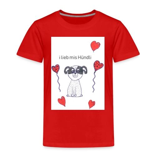 Ich lieb mein Hundi - Kinder Premium T-Shirt