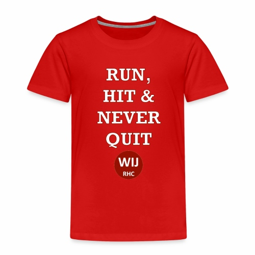 Run Hit never Quit - Kinderen Premium T-shirt