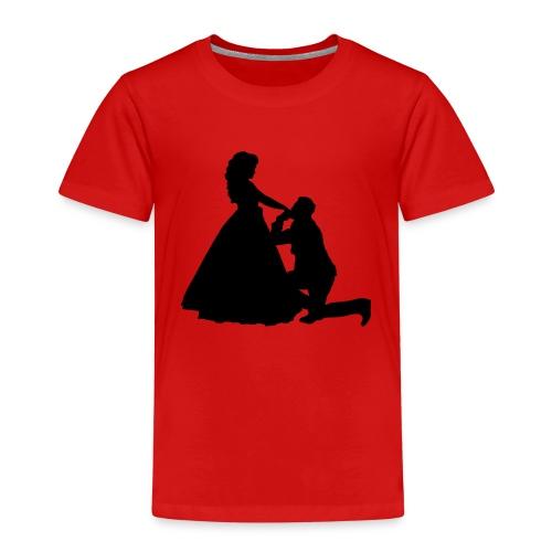 Kniender Mann vor Frau Prinzessin - Kinder Premium T-Shirt