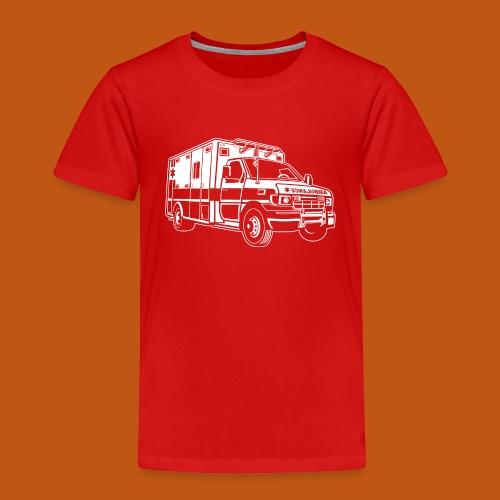 Krankenwagen / Rettungswagen 01_weiß - Kinder Premium T-Shirt