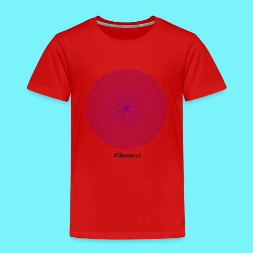 Fibonacci webs in purple - Kids' Premium T-Shirt