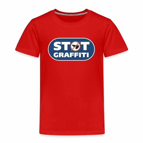 støt graffiti ver 0 2 - Børne premium T-shirt