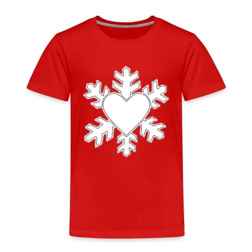 Flocon coeur 3D - T-shirt Premium Enfant