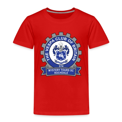 Mystery Tours Scooter Club Cog Badge - Kids' Premium T-Shirt