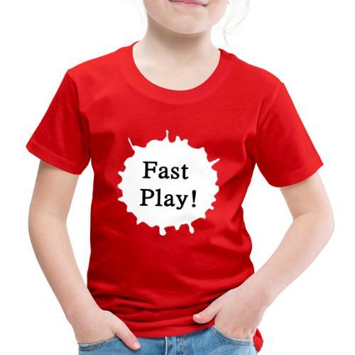 Fast play weiß - Kinder Premium T-Shirt