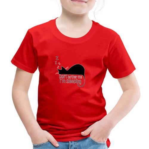 Sleeping cat black - Kids' Premium T-Shirt