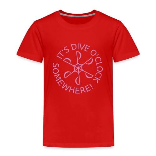 diveoclocklogodlpink png - Kids' Premium T-Shirt