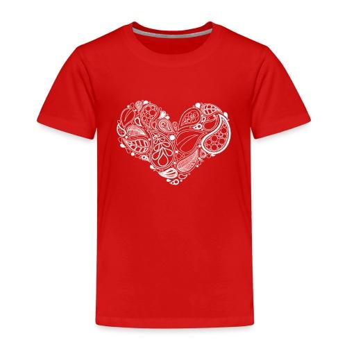 White Leaf Heart Mandala - Kids' Premium T-Shirt