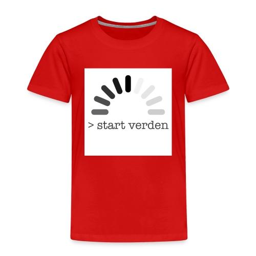 Start Verden - Premium T-skjorte for barn