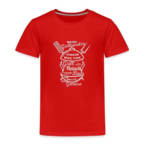 Grillgesetze-01 - Kinder Premium T-Shirt