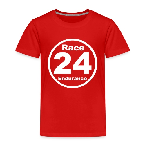 Race24 round logo white - Kids' Premium T-Shirt