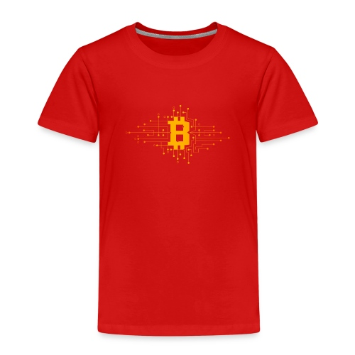 Bitcoin Krypto Design - Kinder Premium T-Shirt
