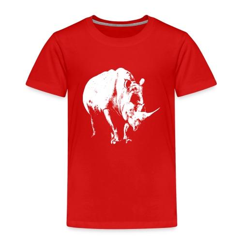 White Rhinoceros (highlights only) - Kids' Premium T-Shirt