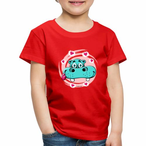 GP10-5A LOVE HIPPO Textile and Gift Products - Lasten premium t-paita
