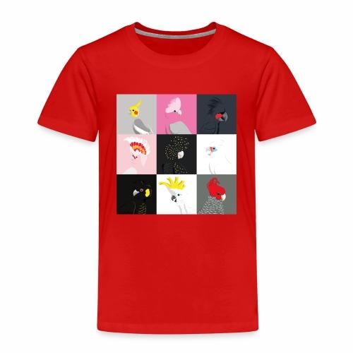 Cockatoo tile portraits - Kids' Premium T-Shirt