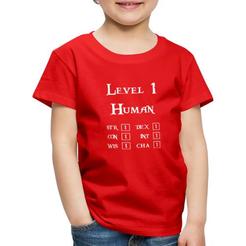 Level 1 Human - Wit - Kinderen Premium T-shirt