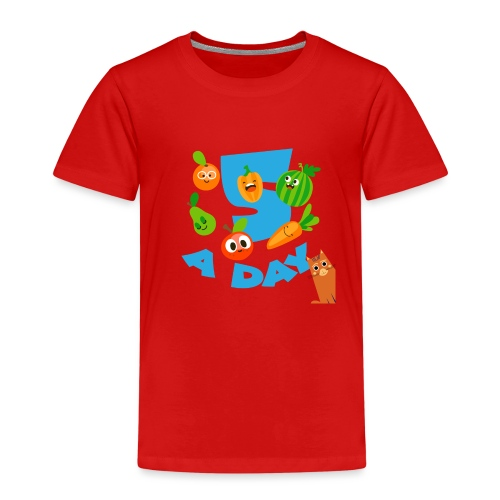 Duna five a day - Premium T-skjorte for barn