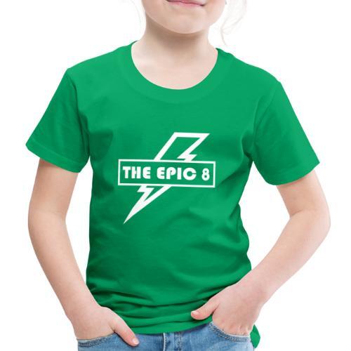 The Epic 8 - Valkoinen logo, iso - Lasten premium t-paita