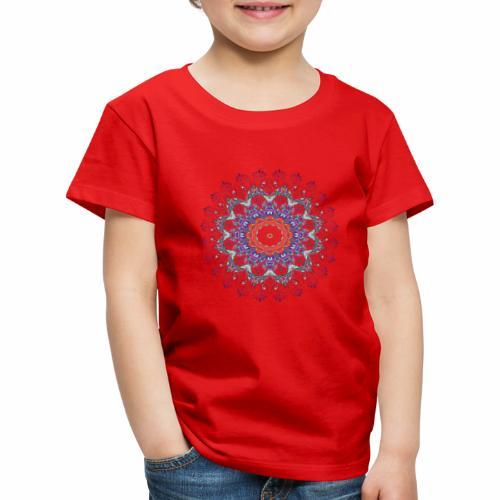 Orange mandala - Børne premium T-shirt