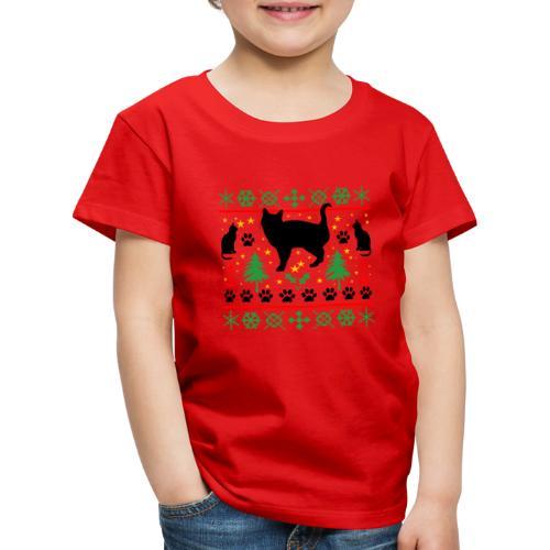 Kerst met katten - Kinderen Premium T-shirt