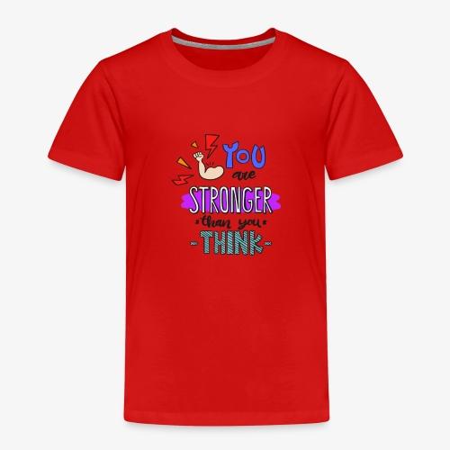 Sport Motivation Stärker als du denkst - Kinder Premium T-Shirt