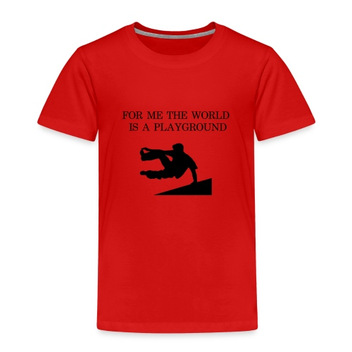THE WORLD IS A PLAYGROUND - Premium-T-shirt barn